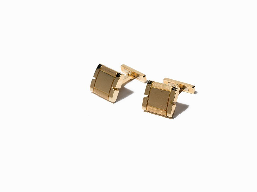 """Cariter Cufflinks, """"Maillon Panthere"""", 18 K Gold,"""