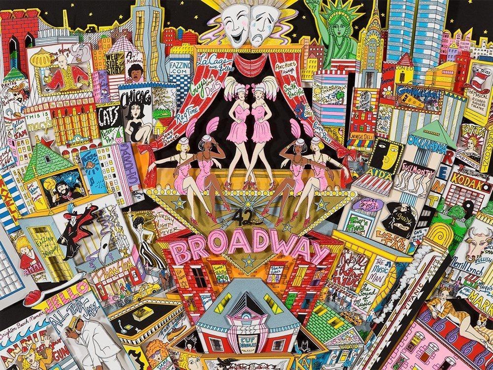 Charles Fazzino, 3D Design, 'Broadway And Beyond!', c. - 9