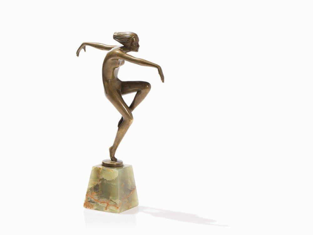 Josef Lorenzl, Female Dancer, Bronze, Vienna, c. 1920