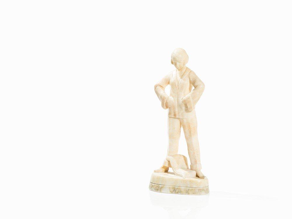 Stephan Dakon, Art Deco Pajamas Woman, Goldscheider,