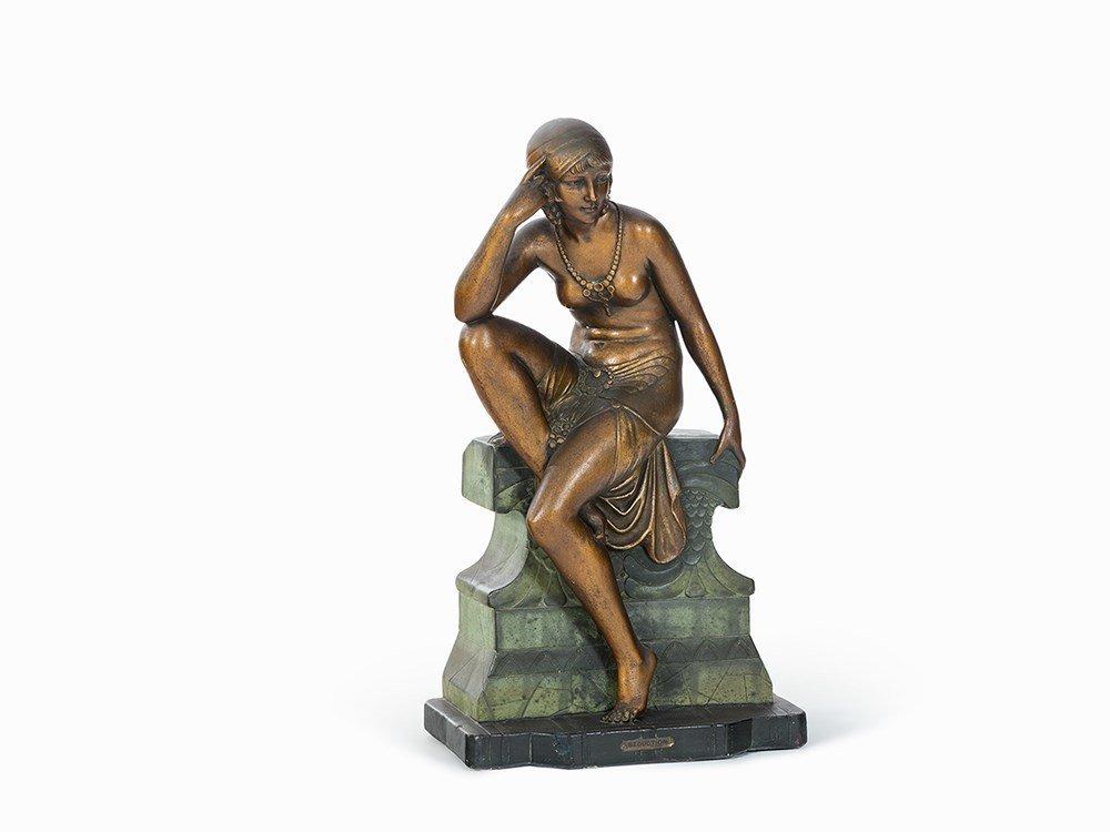 Cipriani, Ceramic Figure 'Sécuction', Italy, 1920s
