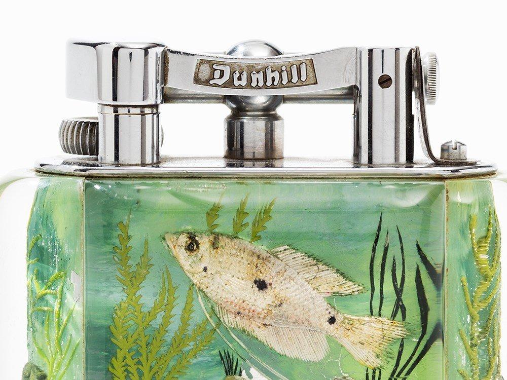 Dunhill Table Lighter 'Aquarium', Lucite/Metal, England - 4