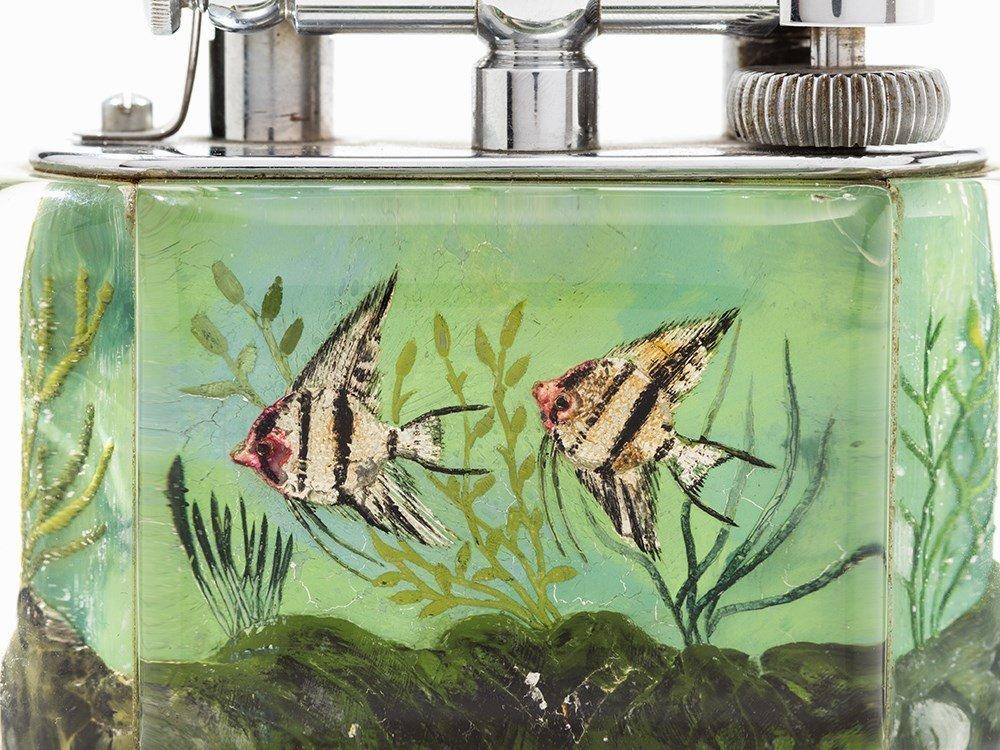 Dunhill Table Lighter 'Aquarium', Lucite/Metal, England - 6