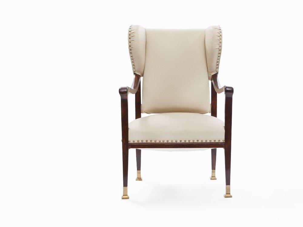 Josef Hoffmann, Art Nouveau Wing Chair, Austria, c.