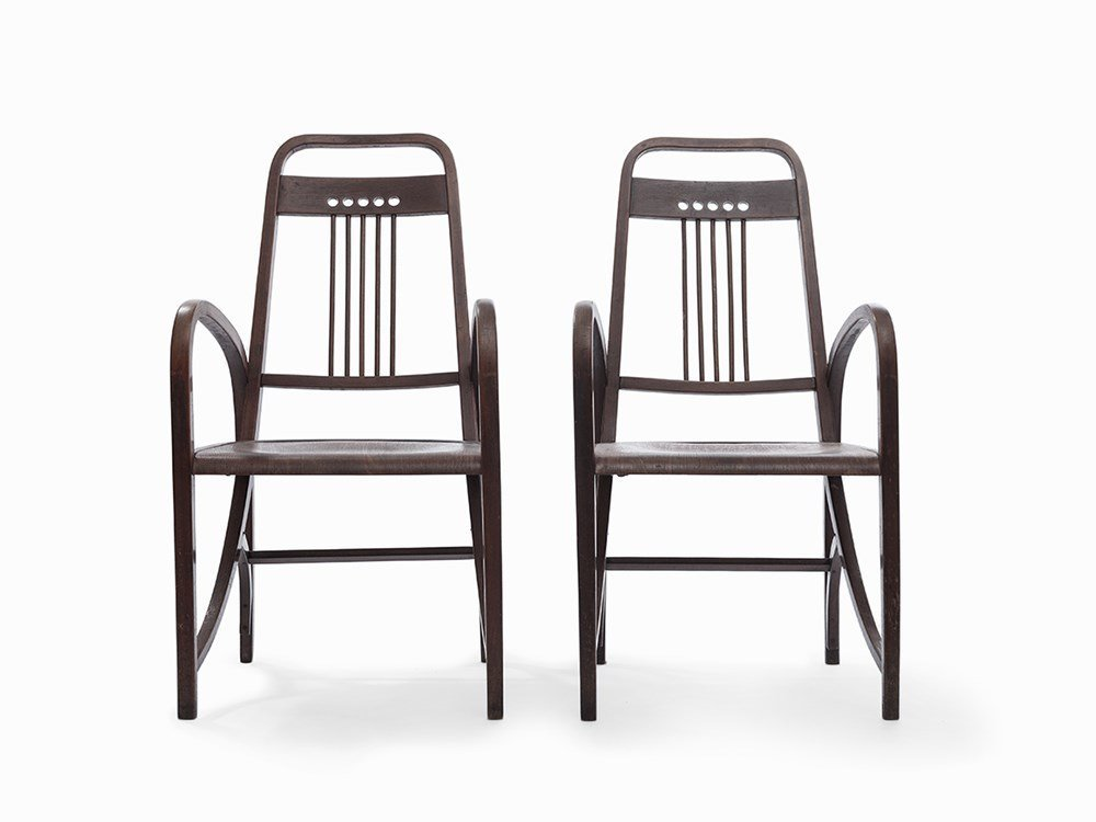 Two Armchairs by Thonet, Model No. 511, Austria, 1904