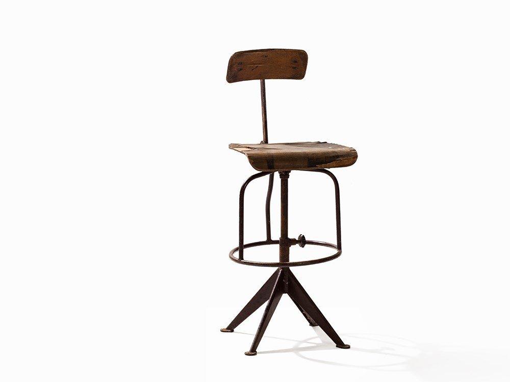 Jean Prouvé, High Swivel Chair, France, c. 1925