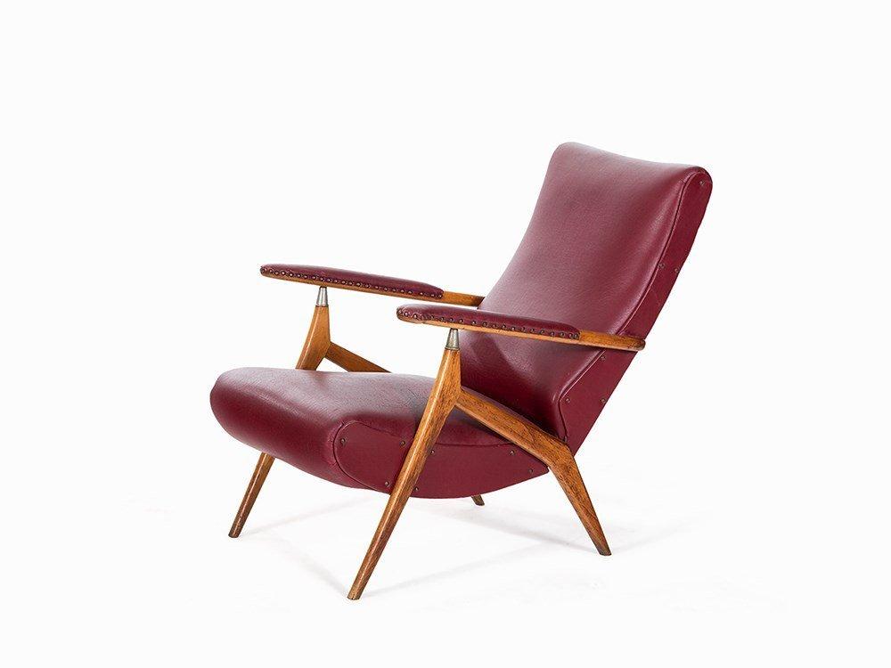 Ettore Canali, Armchair in the Style of Carlo Mollino,