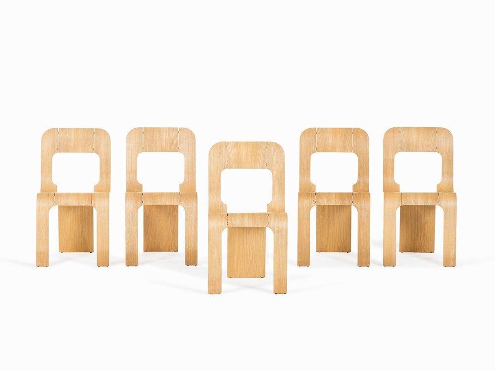 Gigi Sabadin, 5 Stacking Chairs 'Esse', Stilwood, 1973
