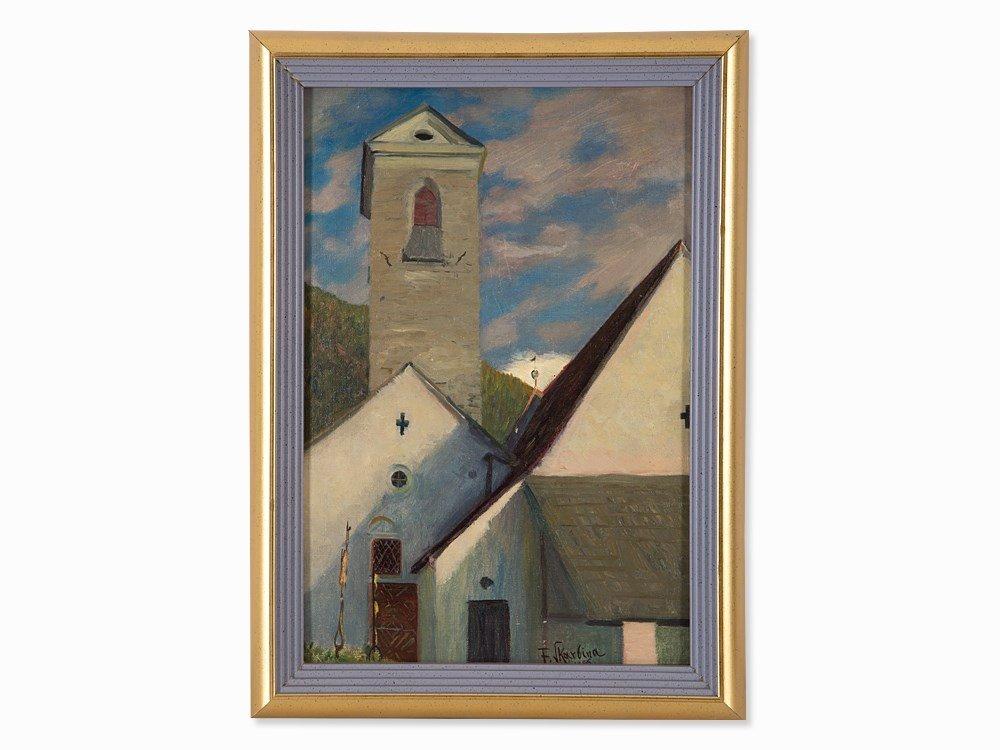 Franz Skarbina (1849-1910), Dorfkirche (Tirol),