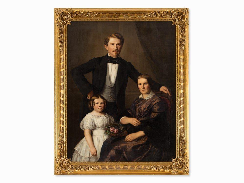 Wilhelm von Kügelgen (1802-1867), Family Portrait, Oil,