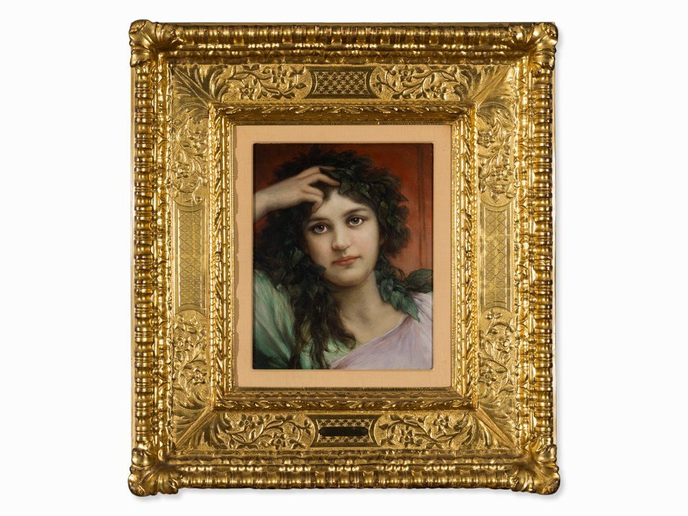 Gabriel C. v. Max (1840-1915), Girl's Head with Laurel,