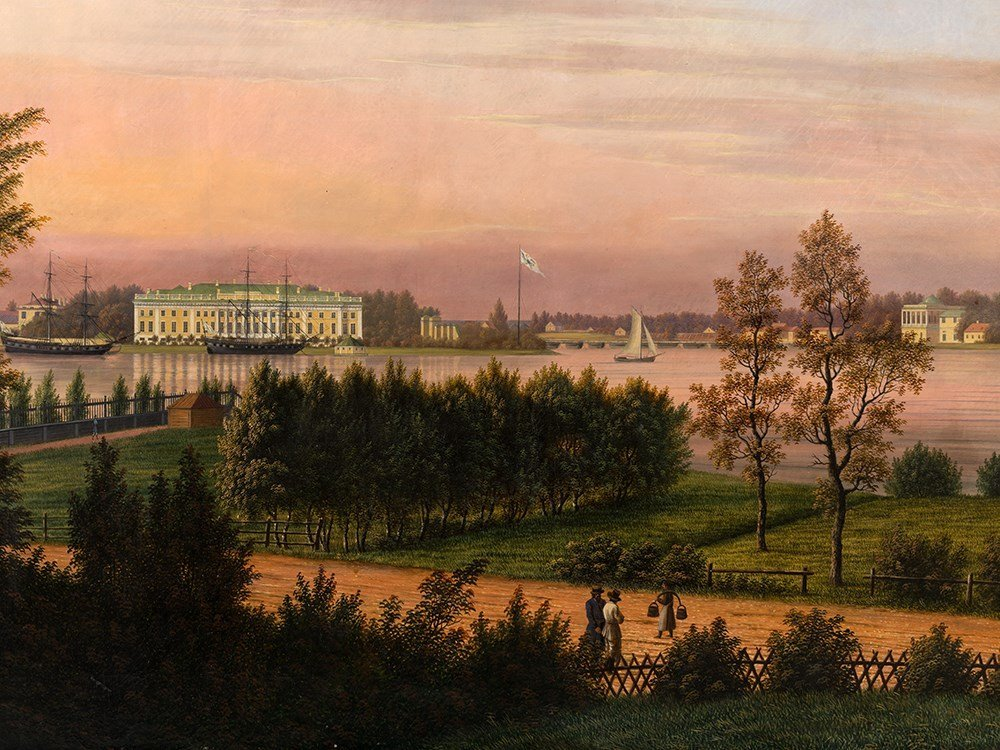 Johann Barth (1779-1852), Palace in St. Petersburg,