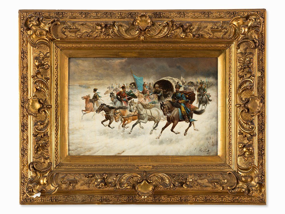 Constantin Stoiloff (1850-1924), Cossacks Riders, Oil,