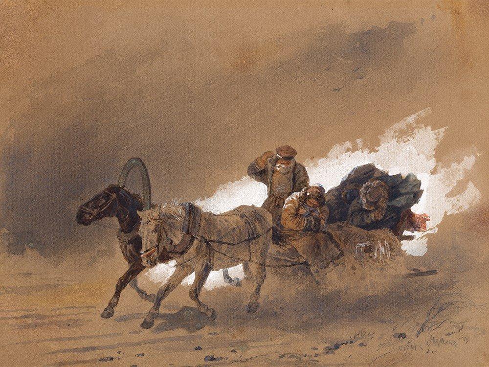 Nikolai E. Sverchkov (1817-1898), Sleigh, presumably