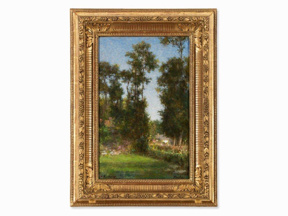 Alexei Harlamoff (1840-1925), Landscape in Veules, Oil,