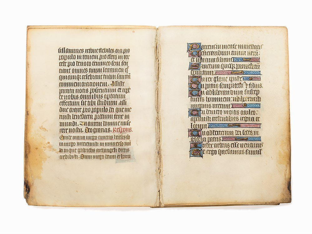 12 Leaves from a Book of Hours, Northern France, c.