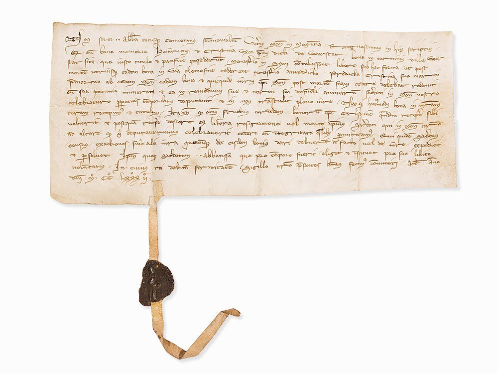 Early Clerical Letter in Latin, 1282
