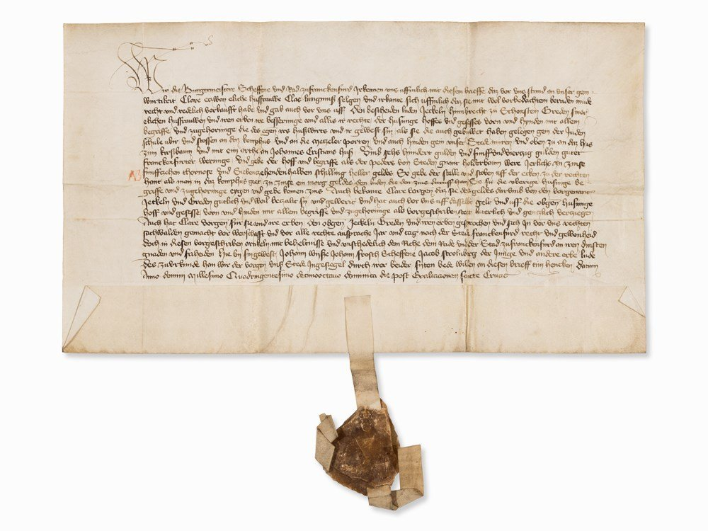 Document from the Frankfurt Lay Court, 1418