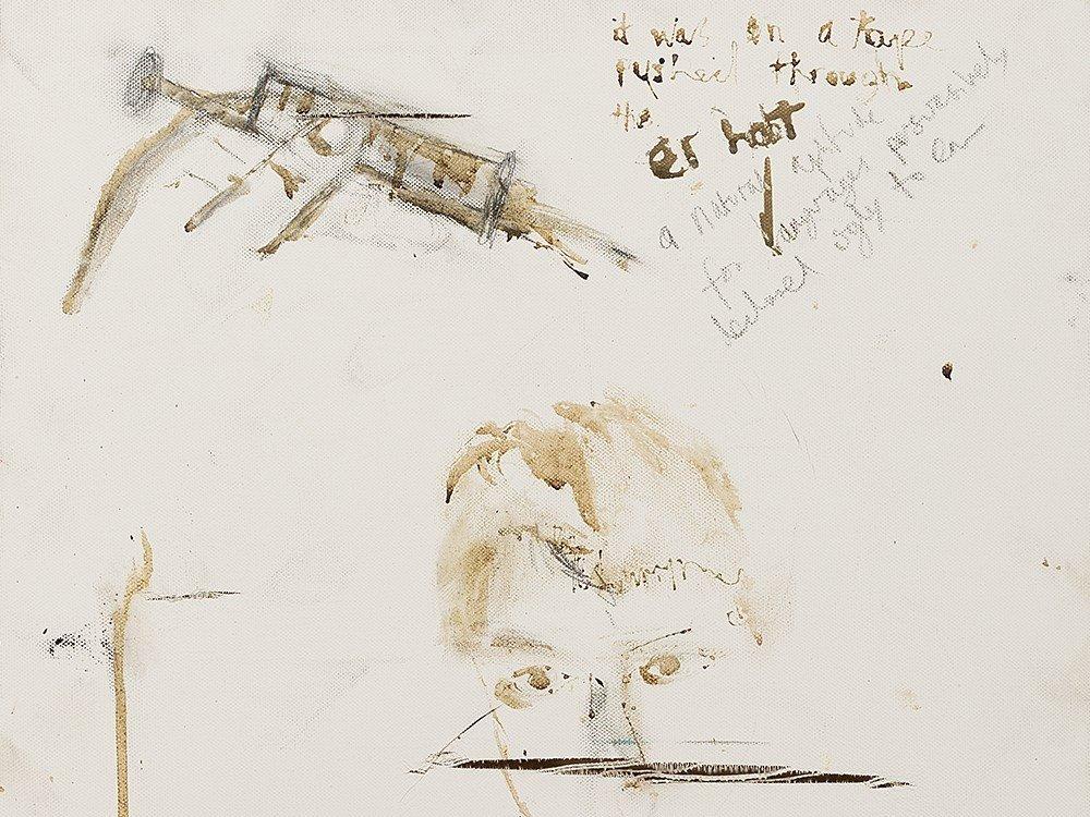 Pete Doherty (b. 1979), Self Portrait - Blood Painting - 6