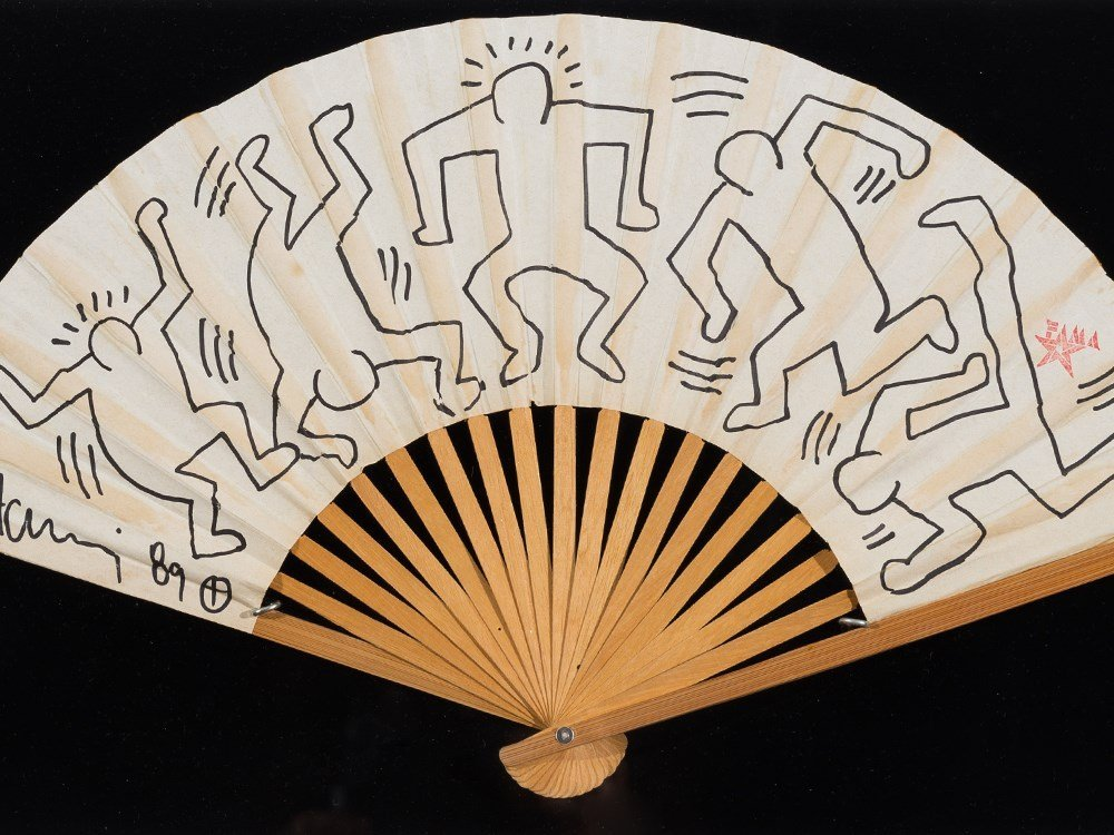 Keith Haring (1958-1990), Fan for Grace Jones, 1989 - 2