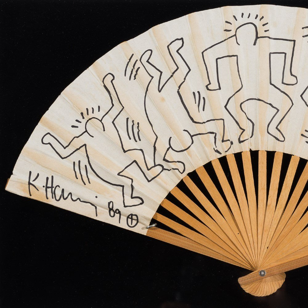 Keith Haring (1958-1990), Fan for Grace Jones, 1989 - 8
