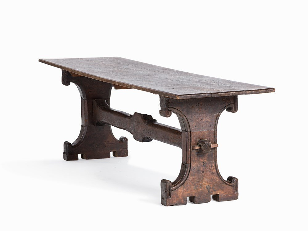 Center Table, Oak, France, c. 1500 and 19th C.