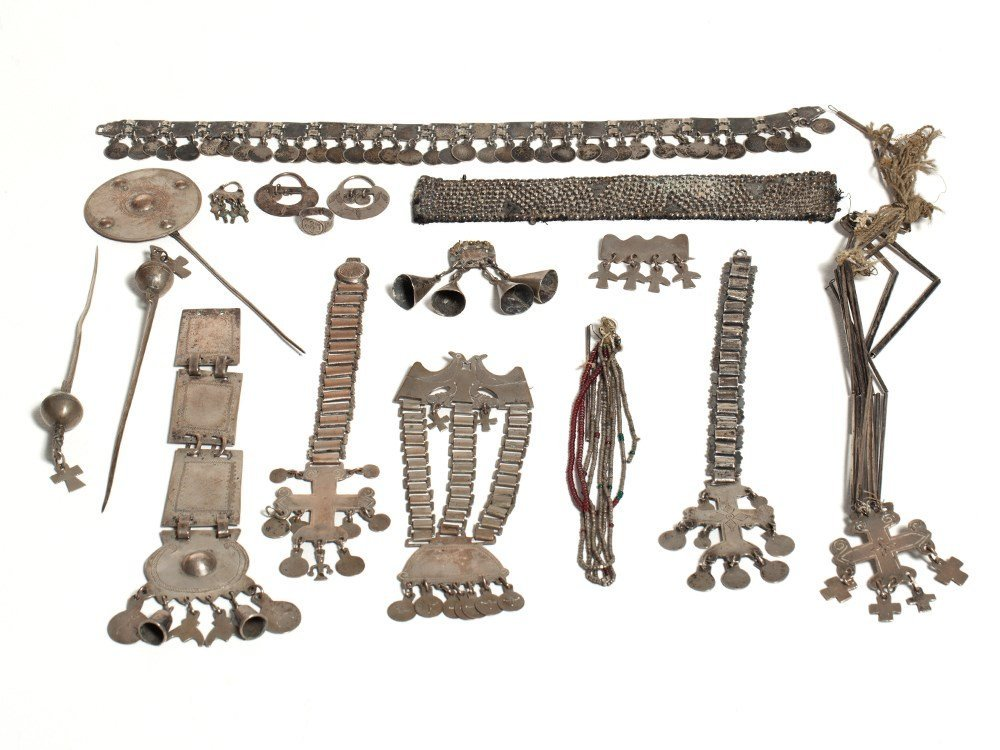 Mapuche, Museum Quality Jewelry, Chile, 19th Century