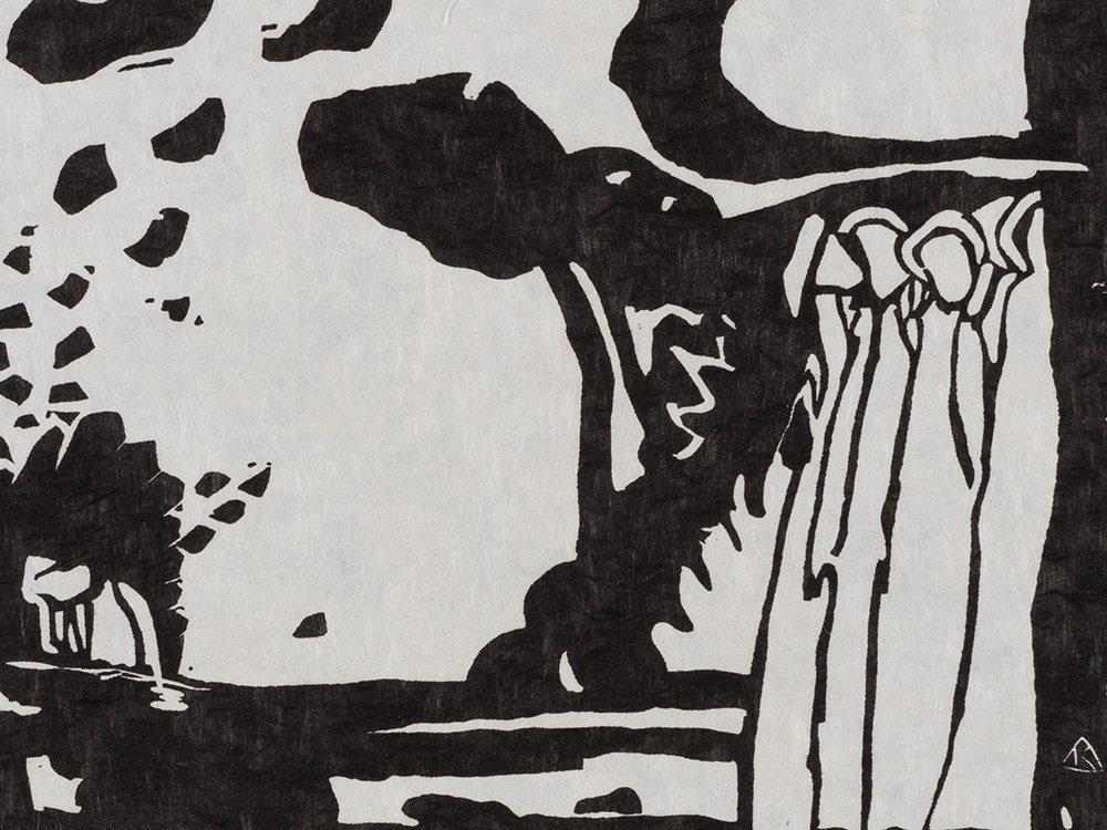 Wassily Kandinsky, Woodcut for 'Improvisation 19', 1911 - 4