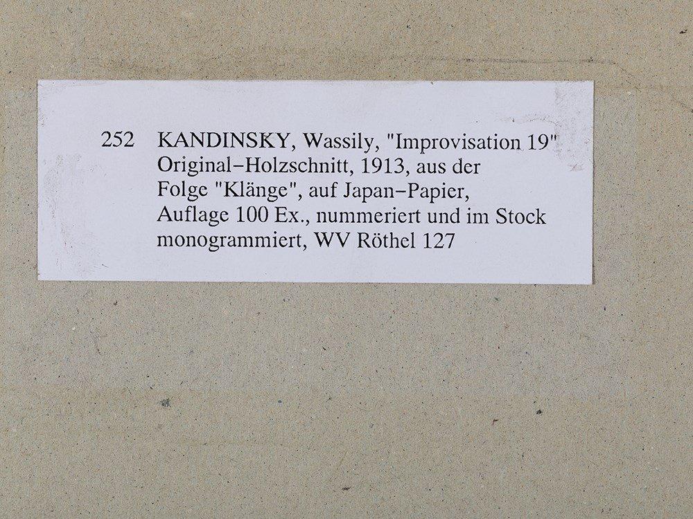 Wassily Kandinsky, Woodcut for 'Improvisation 19', 1911 - 8