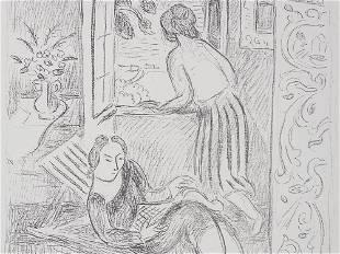 "Hans Purrmann, Lithograph ""Women at the Window"", around"