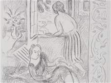 Hans Purrmann Lithograph Women at the Window around