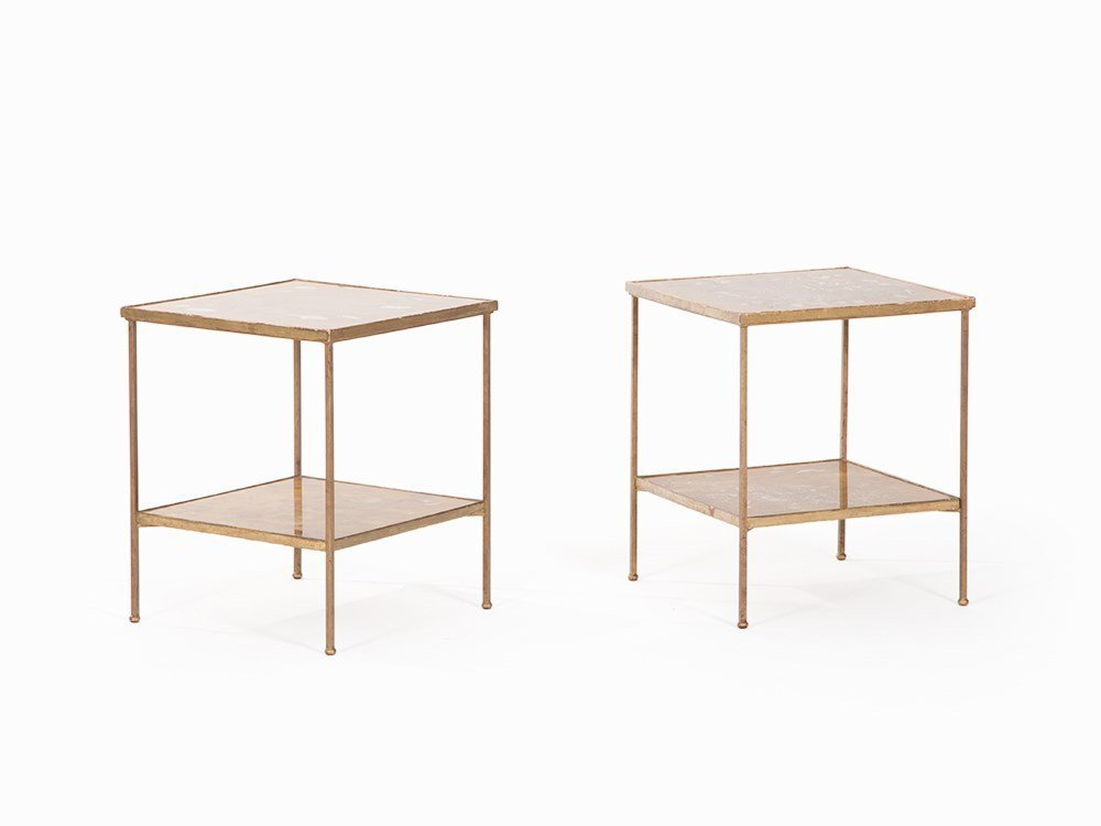 Maison Ramsey, Pair of Side Tables, France, c. 1960