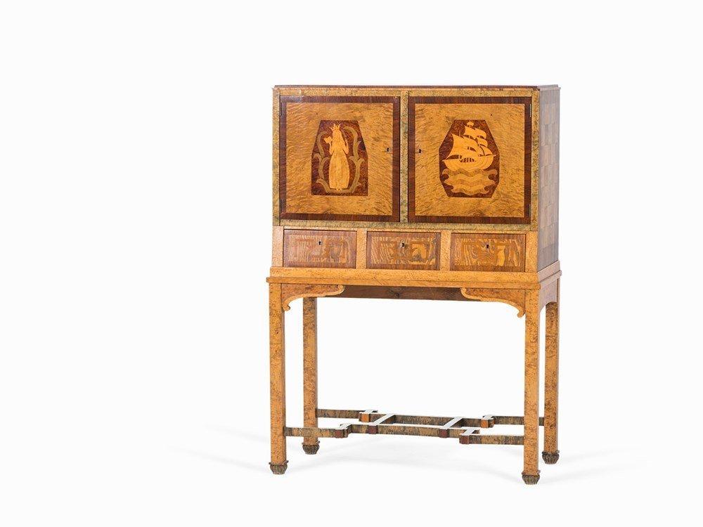 Art Déco Drinking Cabinet with Inlays, Sweden, circa