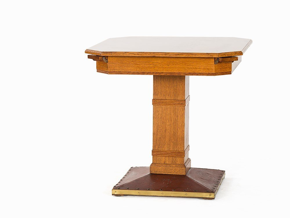 Art Déco Games Table Made Of Oak, Berlin, Germany,