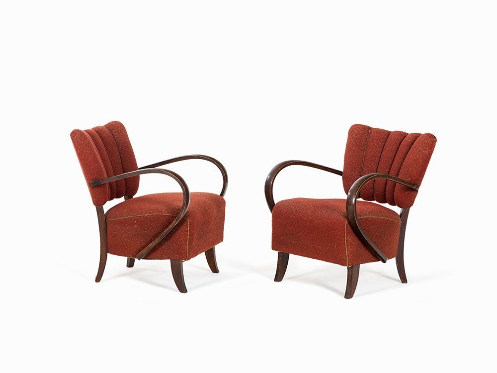 Jindrich Halabala, Attributed, Pair of Armchairs, 1930s