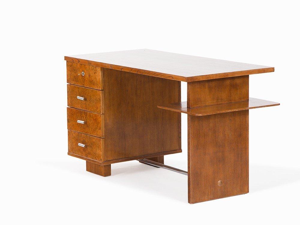 Work Desk in the Style of Jindrich Halabala, c. 1950
