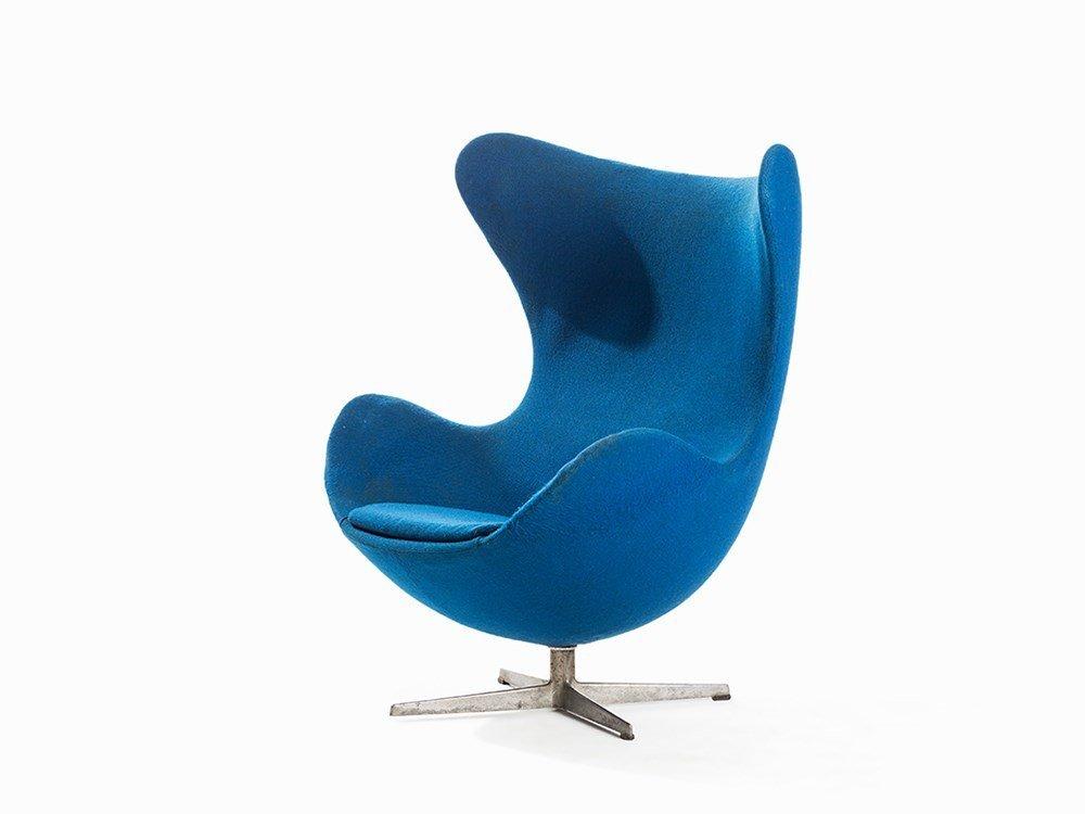 Arne Jacobsen, Egg Chair, Fritz Hansen, Denmark, 1958
