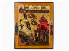 Icon The Ladder of the Divine Ascent Russia 18th C