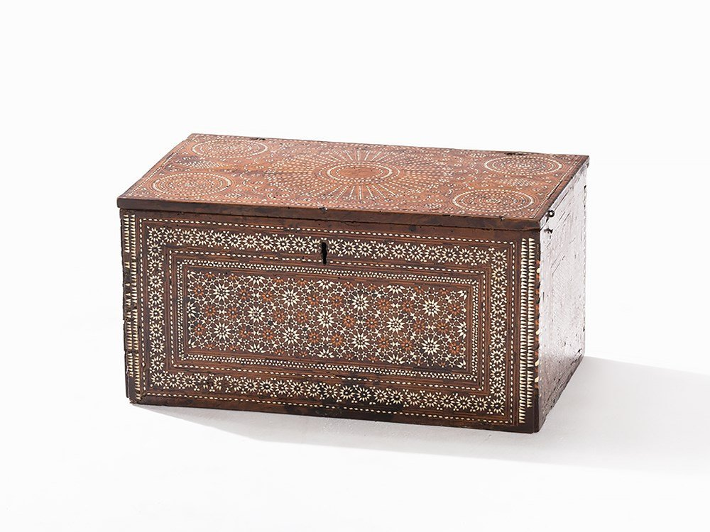 Mudejar Ivory Inlaid Chest, Spain, late 15th/early 16th