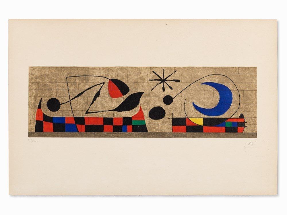 Joan Miró, Mur de la Lune, Color Lithograph, 1958
