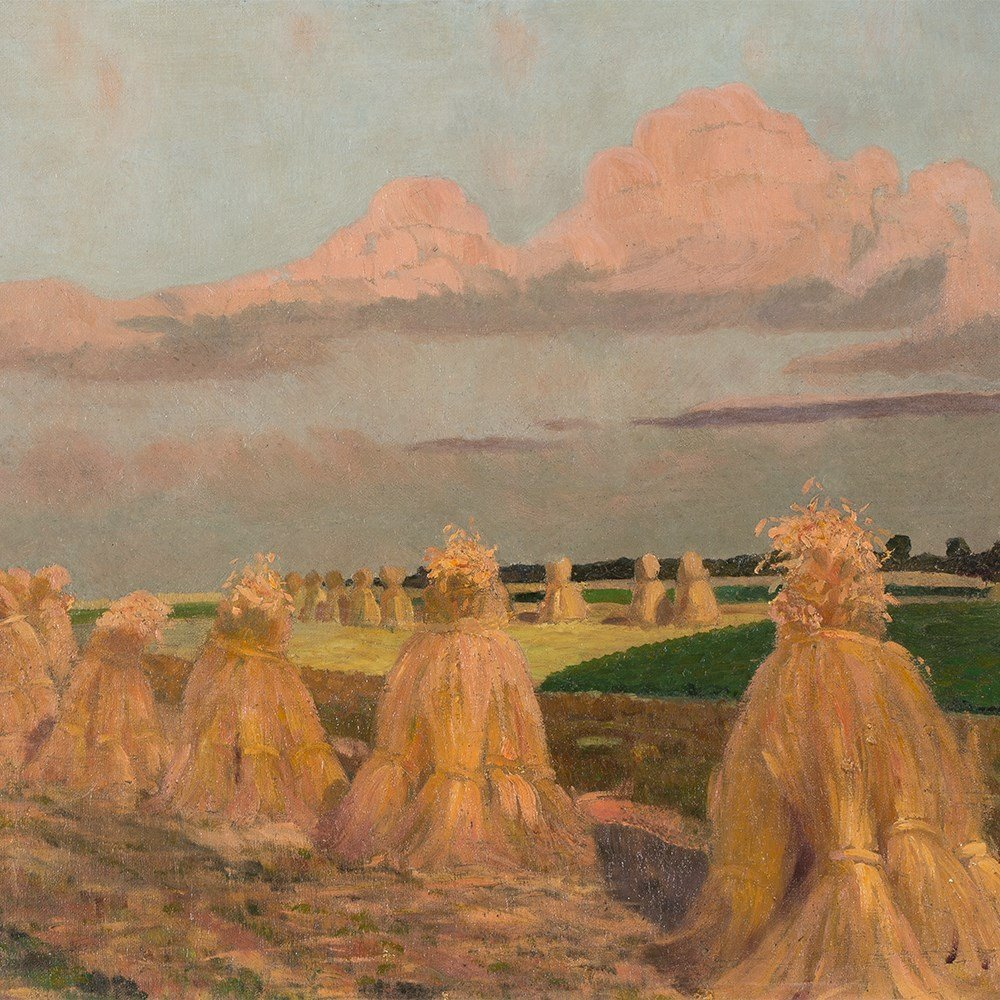 Gustav Wunderwald (1882-1945), Painting, Haystacks, - 10