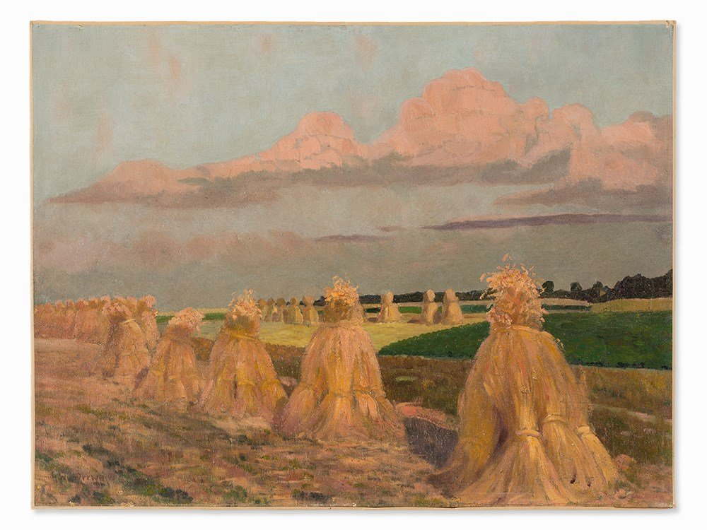 Gustav Wunderwald (1882-1945), Painting, Haystacks, - 3