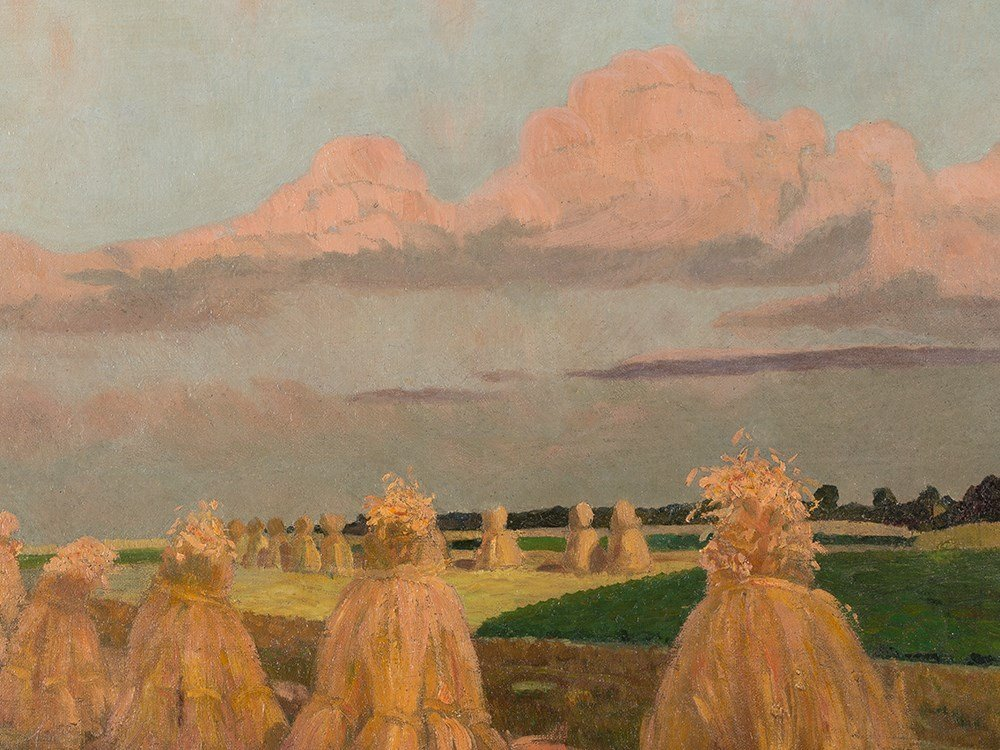 Gustav Wunderwald (1882-1945), Painting, Haystacks, - 6
