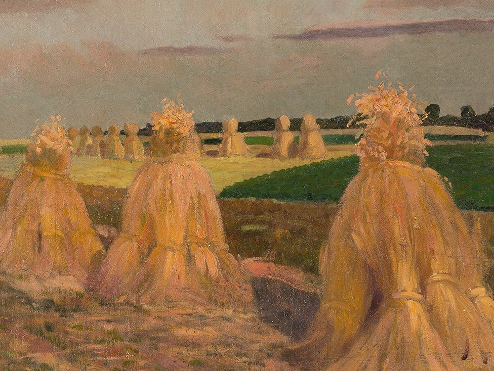Gustav Wunderwald (1882-1945), Painting, Haystacks, - 7