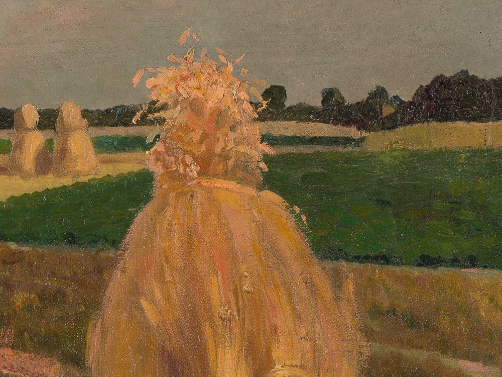 Gustav Wunderwald (1882-1945), Painting, Haystacks, - 8
