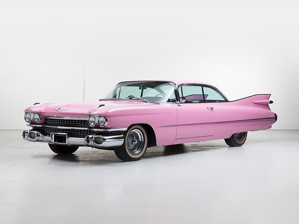 """Cadillac Coupe DeVille, """"Pink Cadillac"""", Model 1959"""