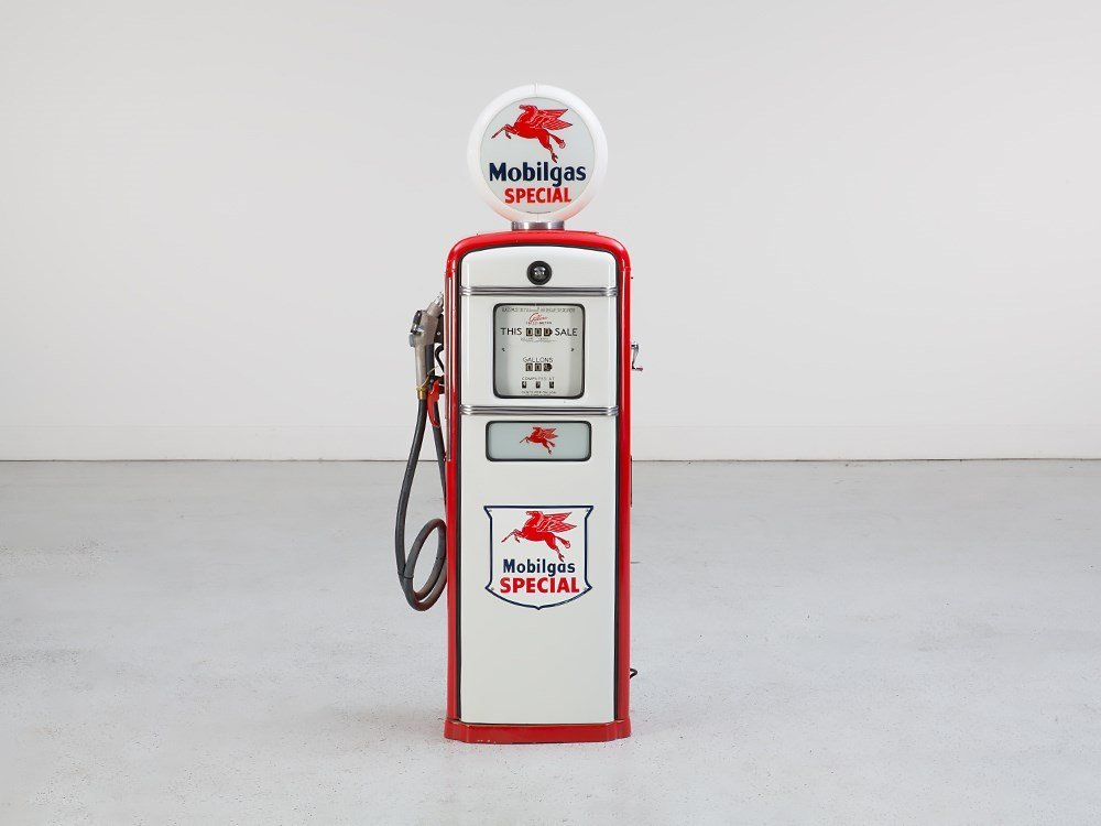 """Gas Pump """"Mobil Gas """", Restored with Illumination"""