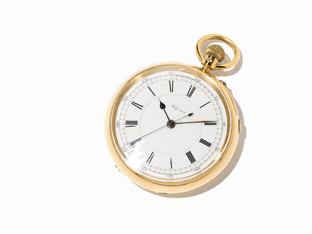 Gold Pocket Watch with stoppable centre second, Around