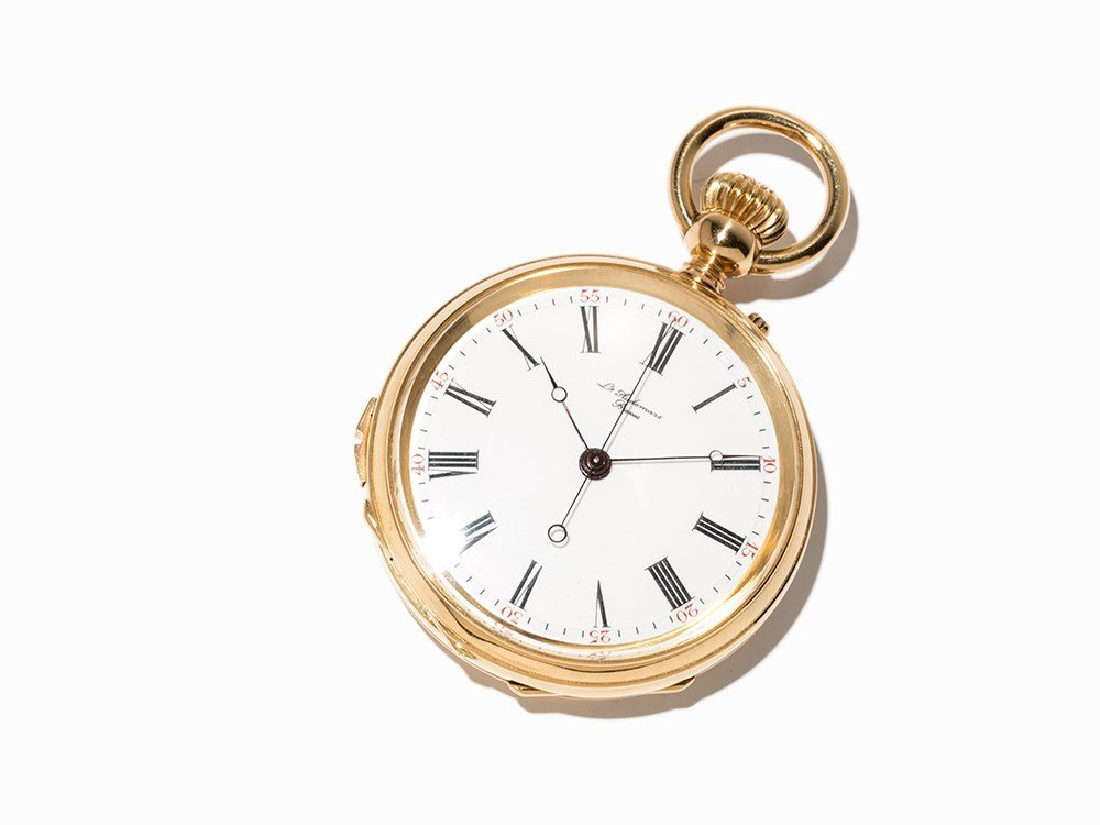 Gold pocket watch with stoppable Seconde Morte, Around
