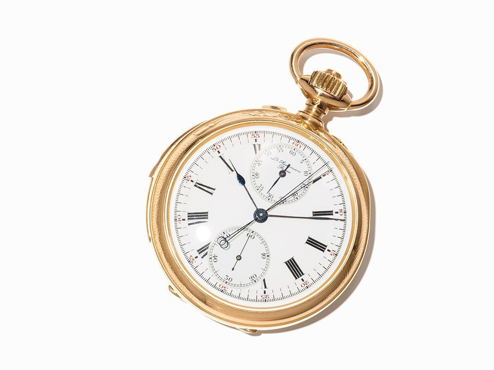 Pocket Watch with Minute Repetition & Chronograph